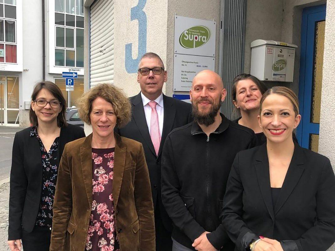 v.l.: Miriam Meder, Karin Wiggenhauser, Peter Ditze, Holger Faust, Claudia Nembach und Hülya Düber. Foto: Markus Mauritz
