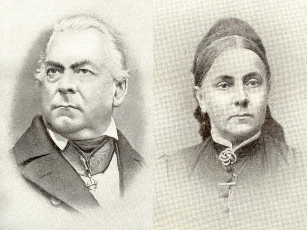 Eduard von Siebold und seine Tochter Agathe von Siebold, verheiratetet Schütte. Archiv: Willi Dürrnagel