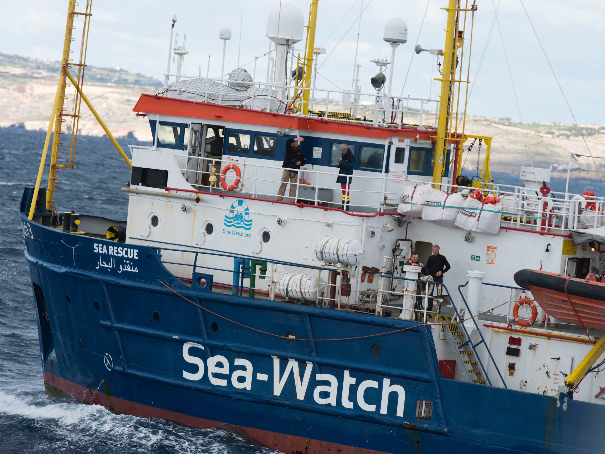 """Alexander aus Würzburg hat die Seenotrettungsorganisation """"Sea-Ey als Medienkoordinator begleitet. Foto: Alexander Draheim"""