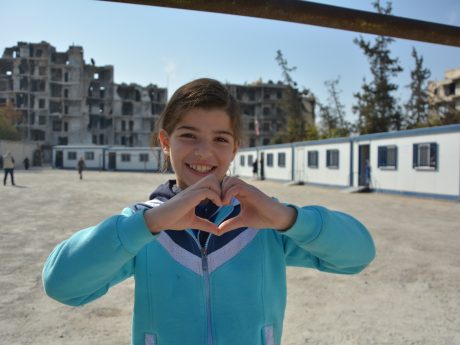 UNICEF. Mädchen in Syrien. Foto: Ninja Charbonneau.
