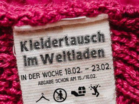 Der Weltladen Würzburg veranstaltet eine Kleidertausch-Aktion. Grafik: Oliver Berger