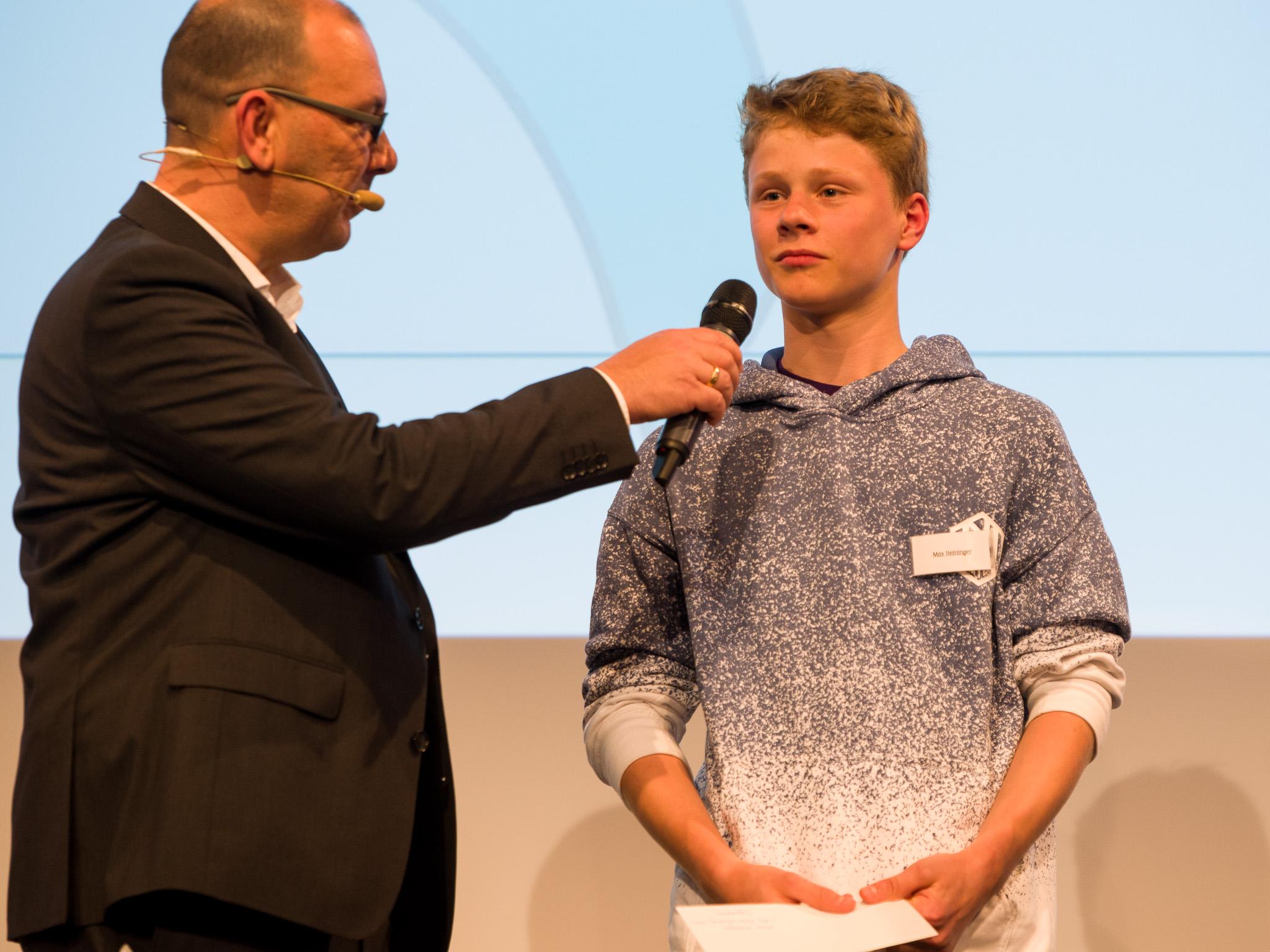 Der Jugendpreis ging dieses Jahr an Max Heininger, aktiv beim JFG Kreis Würzburg-Nord. Foto: Pascal Höfig