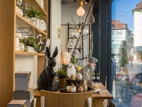 Verschiedene Dekoartikel für Ostern. Foto: Pascal Höfig