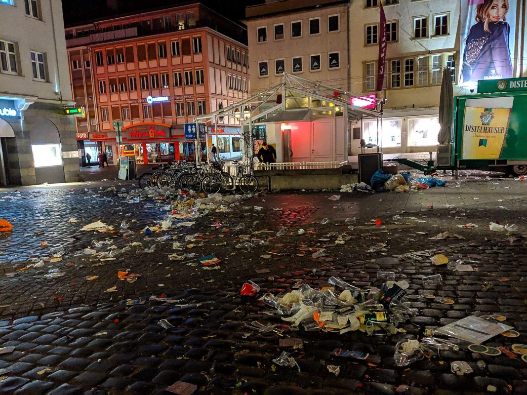Rund 7 Tonnen Abfälle sind am Faschingszug 2019 zusammengekommen. Foto: CJP