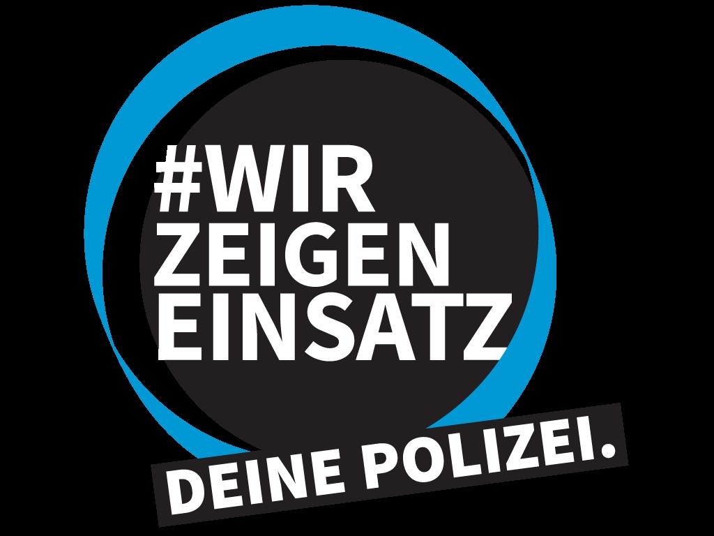#WirzeigenEinsatz des Polizeipräsidiums Unterfranken; Foto: Polizei