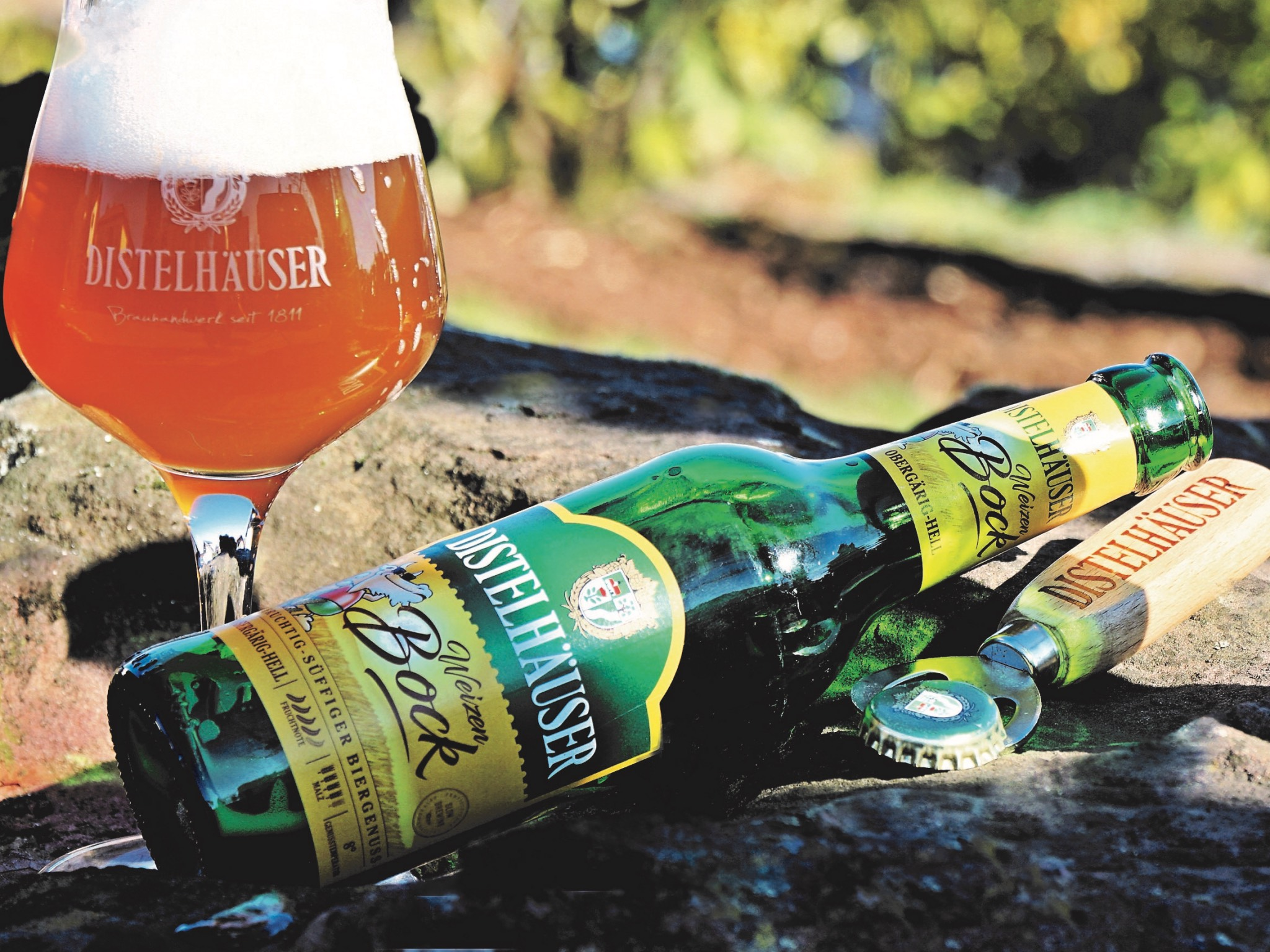 Der Weizenbock eröffnet die Saison! Foto: Distelhäuser Brauerei