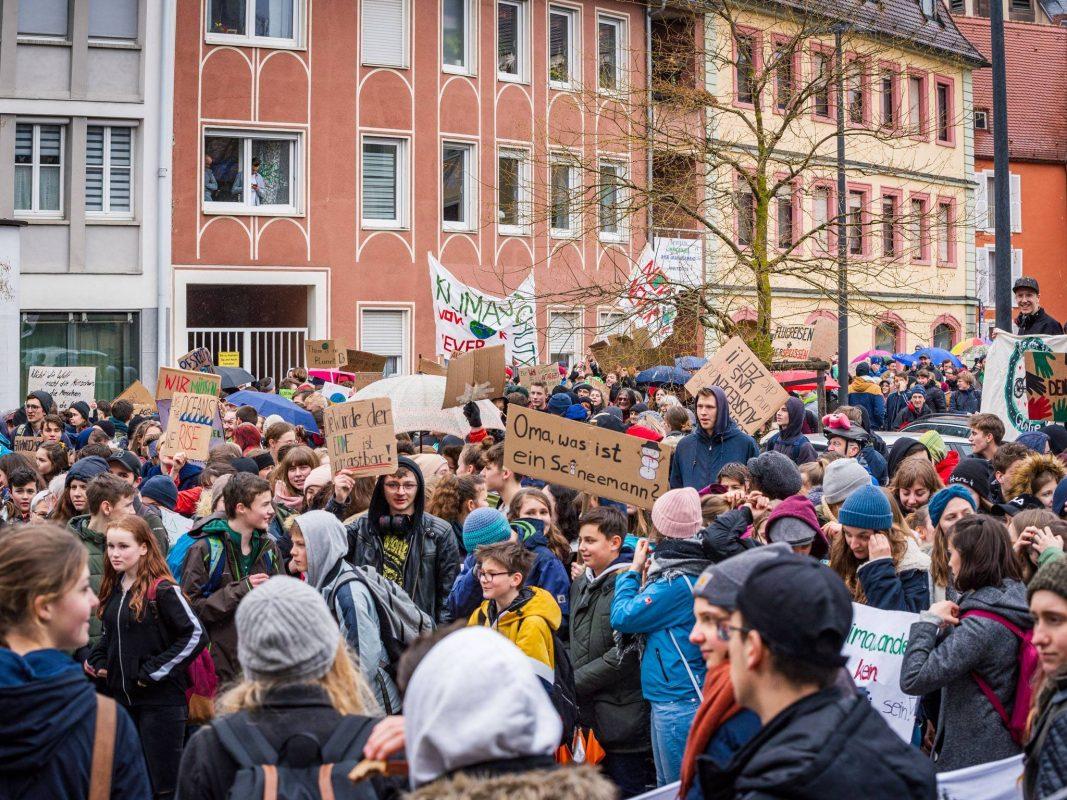#FridaysForFuture-Streik in Würzburg. Foto: Pascal Höfig