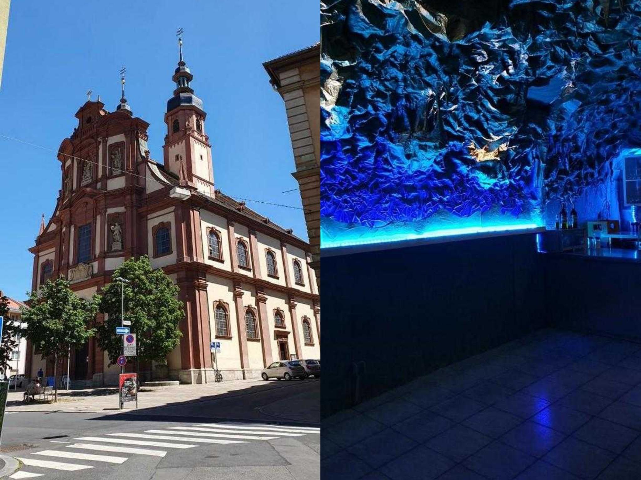 Die Kirche St. Peter und Paul und die älteste Pizzeria Deutschlands gehören zum Peter Viertel. Foto: Jessica Hänse/ Sarah Willer