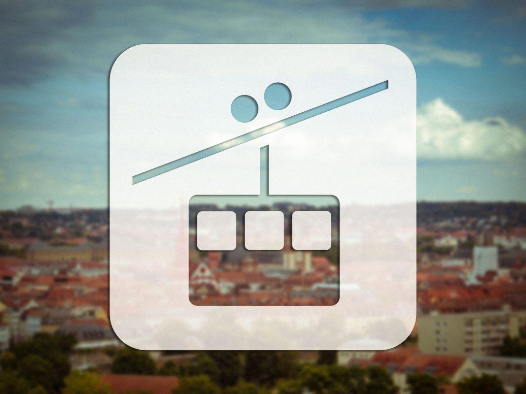 Eine Seilbahn für Würzburg? Fotomontage: Dominik Ziegler