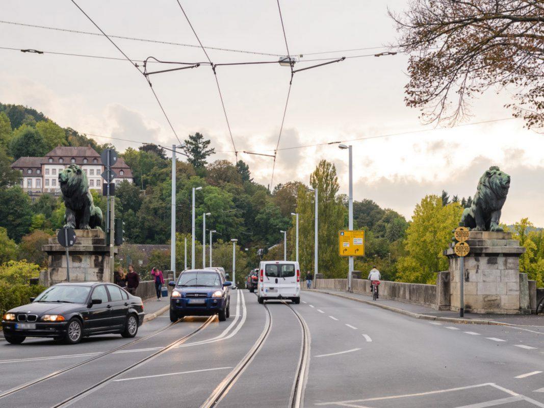 Die Löwenbrücke in Würzburg. Foto: Pascal Höfig