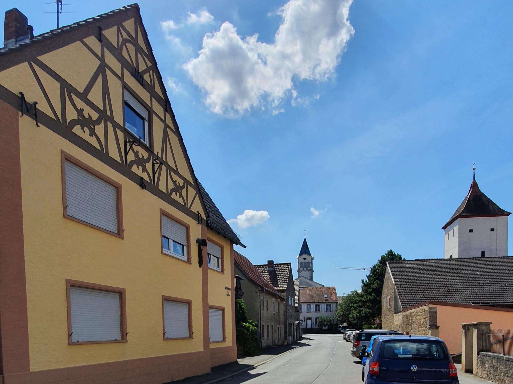 Wolfskeelstraße: Eine der Hauptverkehrsstraßen in Rottenbauer erinnert heute an den jahrhundertelangen Einfluss der Adelsfamilie. Foto: Jacob Grimm