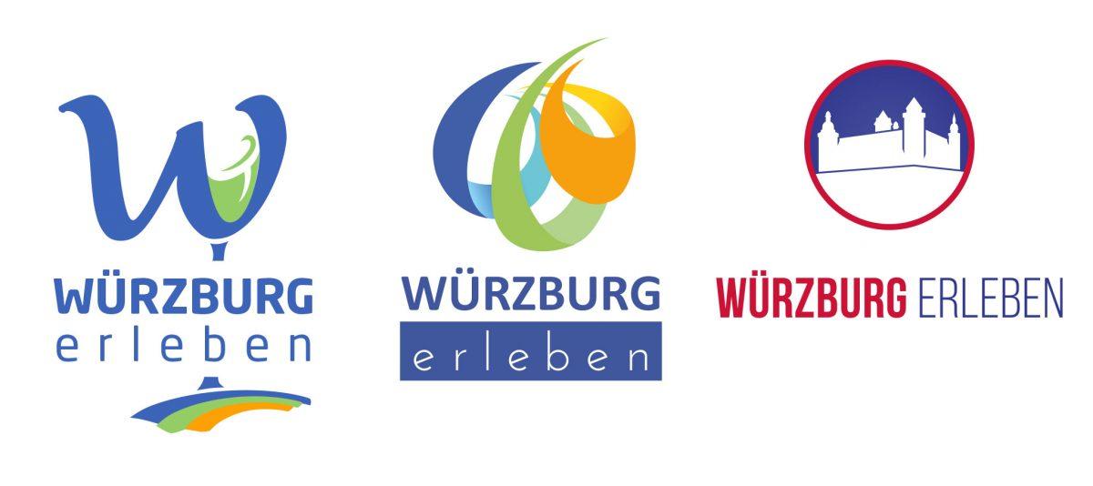 """Die Marke """"Würzburg erleben"""" im Wandel der Zeit. Grafik: Dominik Ziegler"""