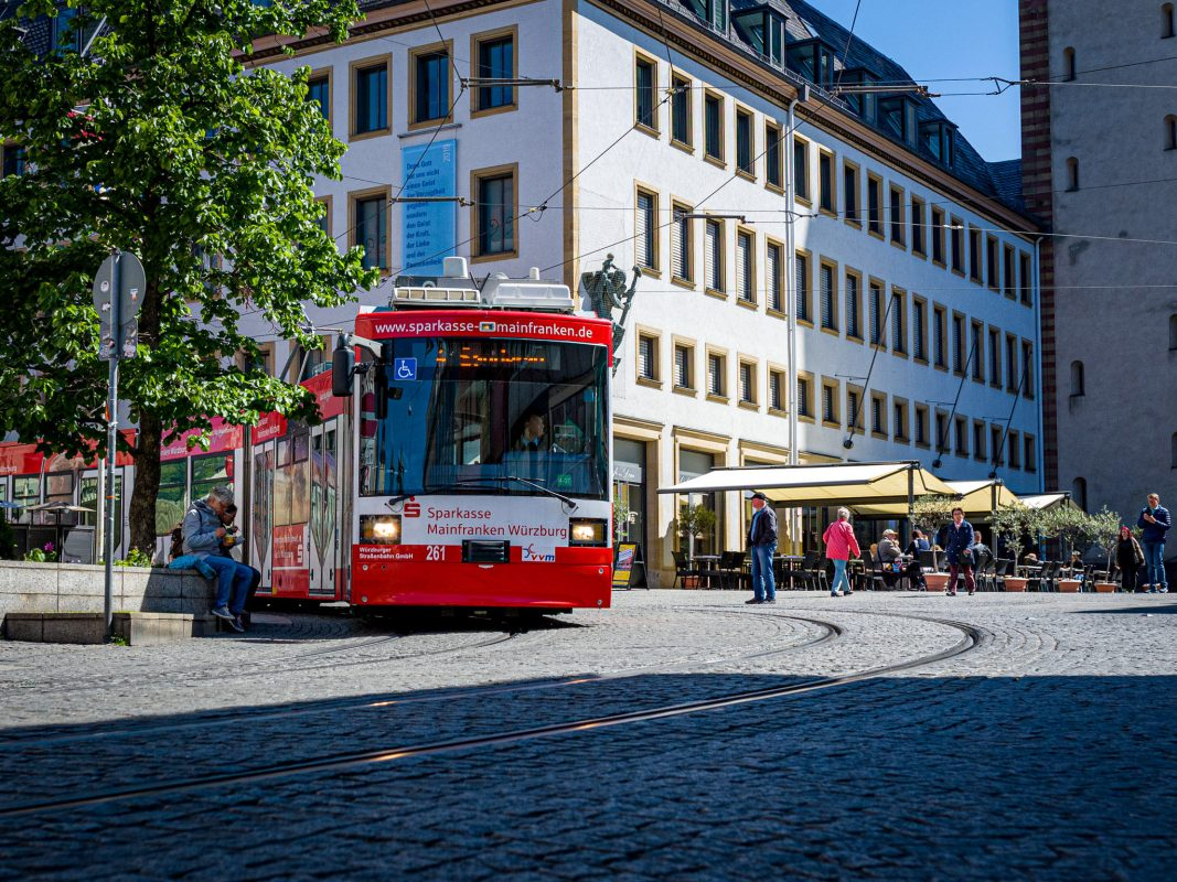 Straßenbahn in Würzburg. Foto: Pascal Höfig