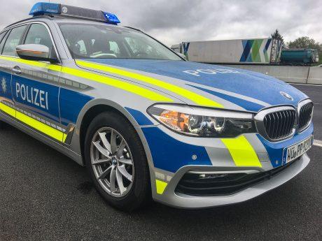 Autobahnpolizei im Einsatz. Foto: Pascal Höfig