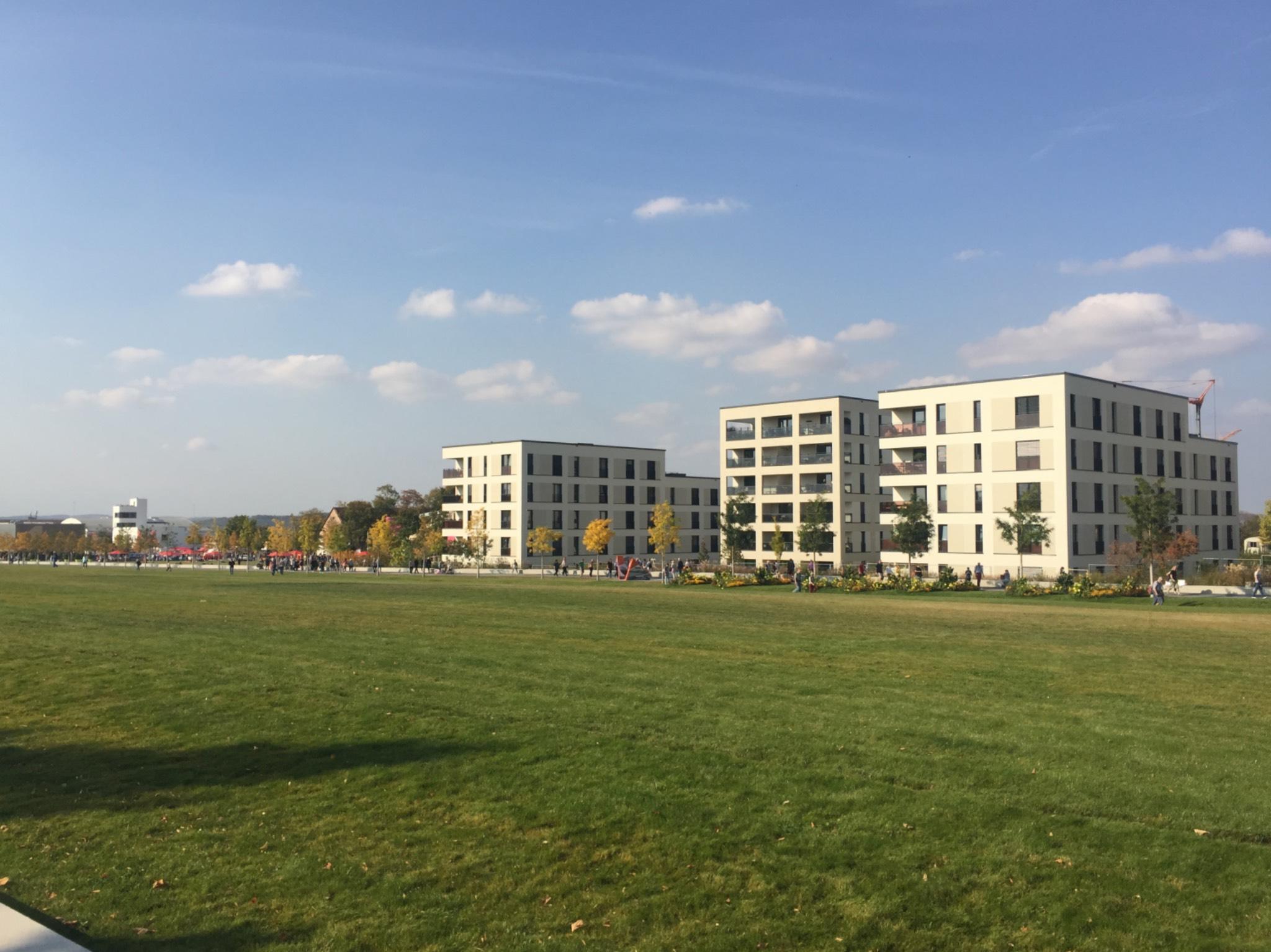 Der neue Stadtteil Hubland wächst. Foto: Katharina Kraus