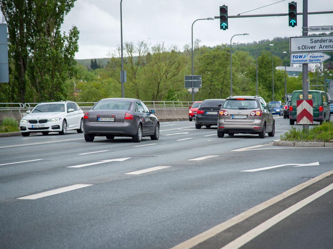 Verkehr im Stadtgebiet. Foto: Pascal Höfig