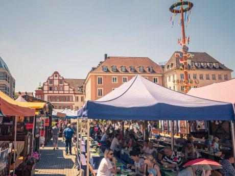 Das Weindorf in Würzburg. Foto: Pascal Höfig