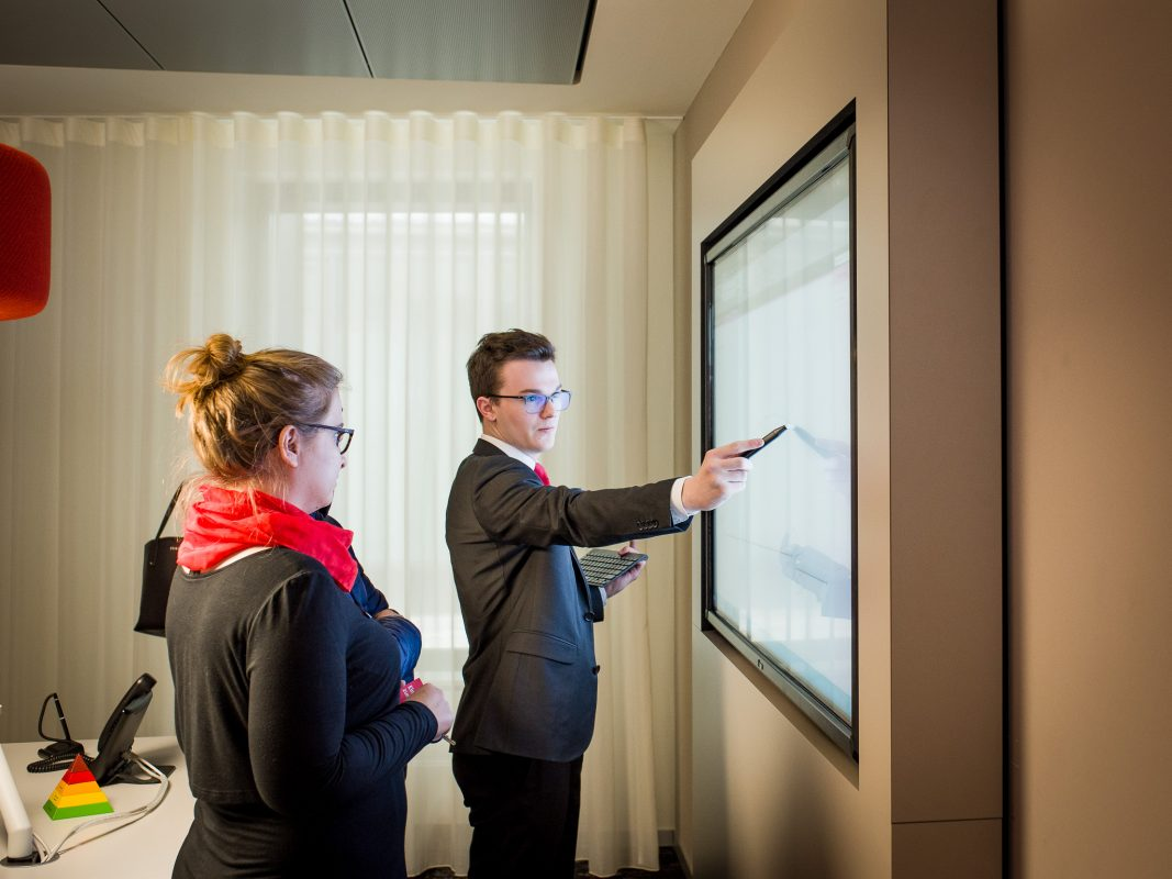 Neueste Technologien sind bei der Sparkasse Mainfranken Würzburg im Einsatz. Foto: Pascal Höfig