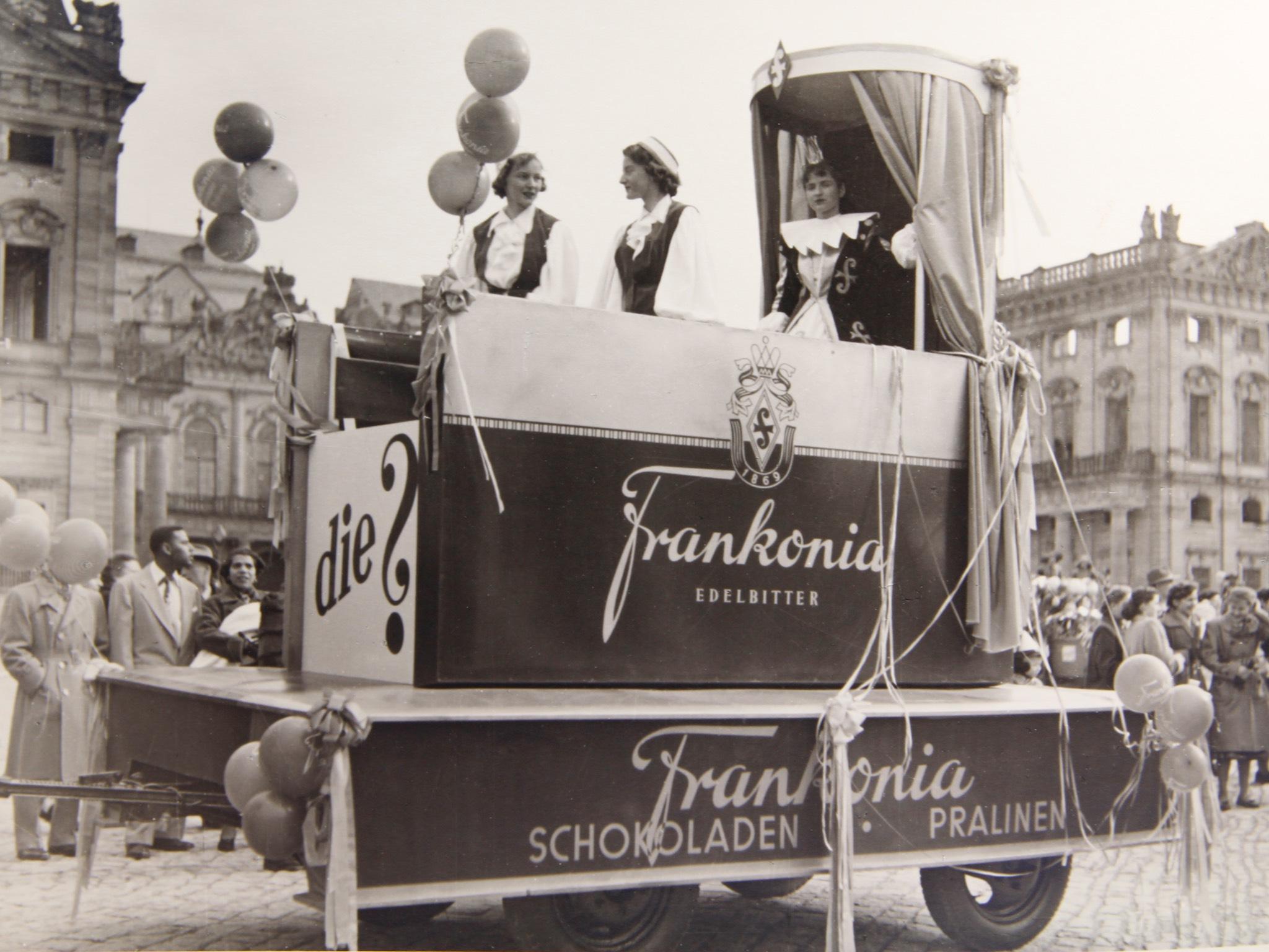 Frankonia Schokoladenwerke auf dem Würzburger Residenzplatz. Foto: Frankonia Schokoladenwerke GmbH