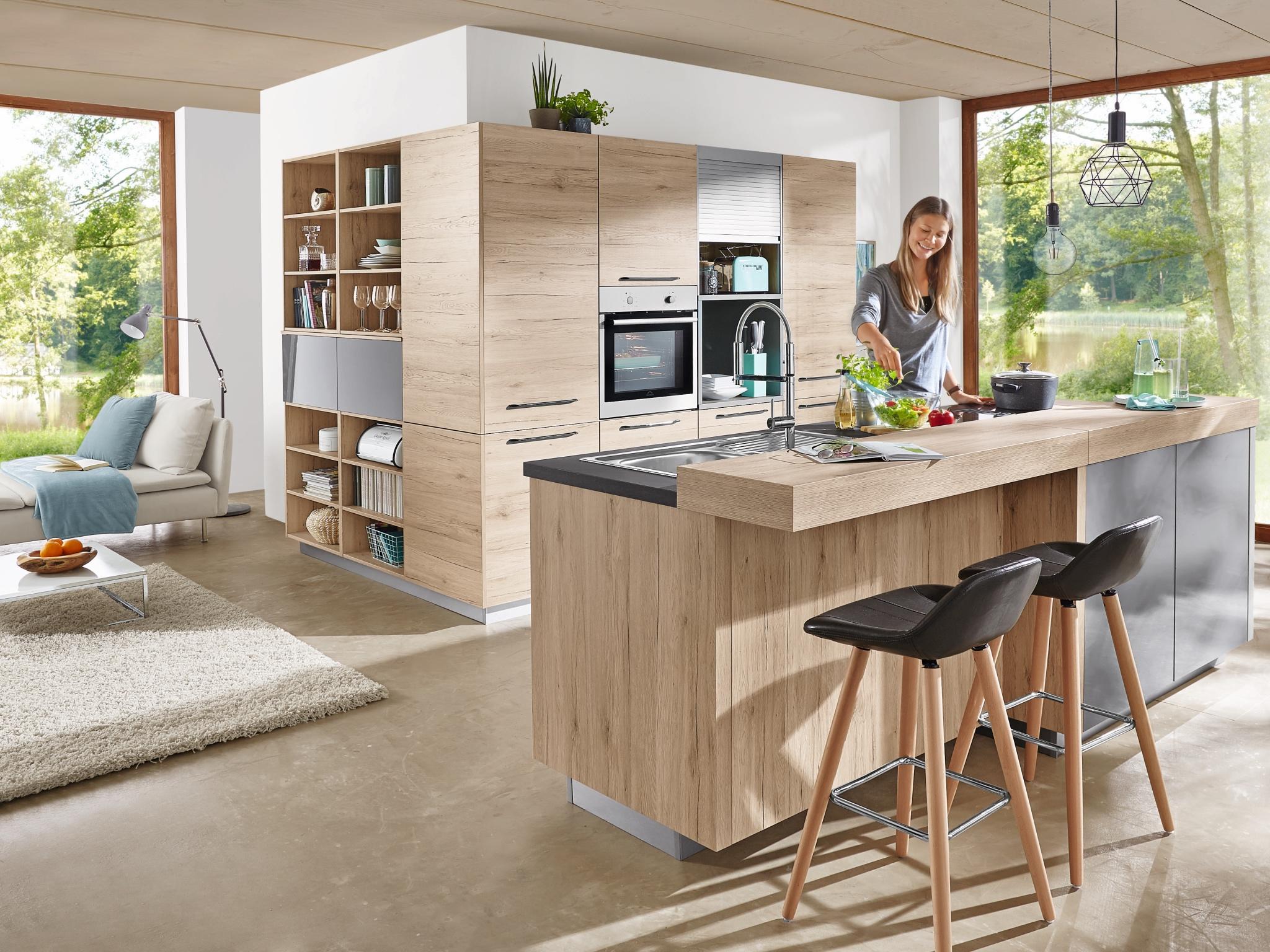 Küchenlösung für den Küchentraum um die Ecke. Foto: MEDA Küchen