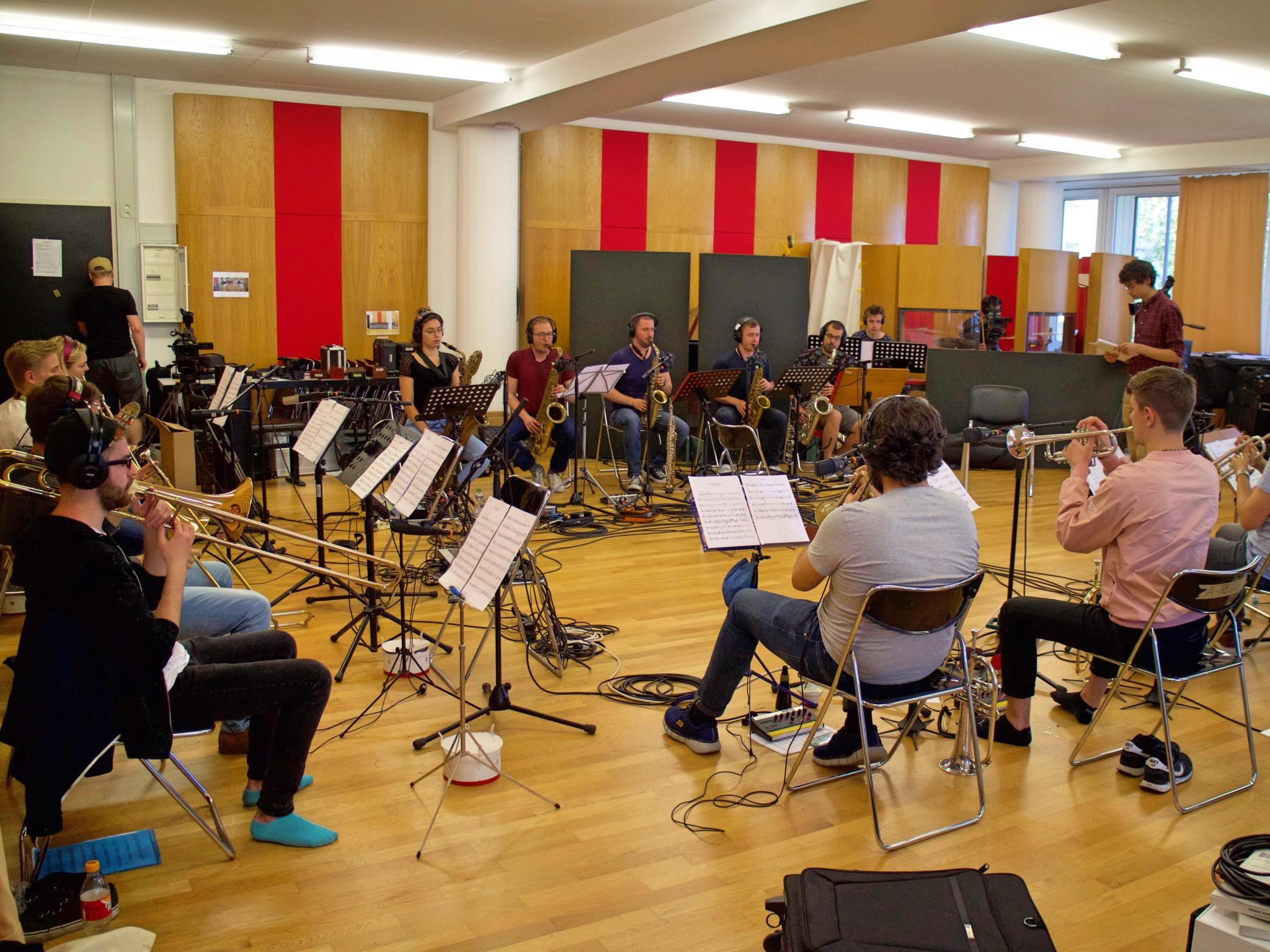 Die Musiker beim Proben. Foto: Oliver Marec