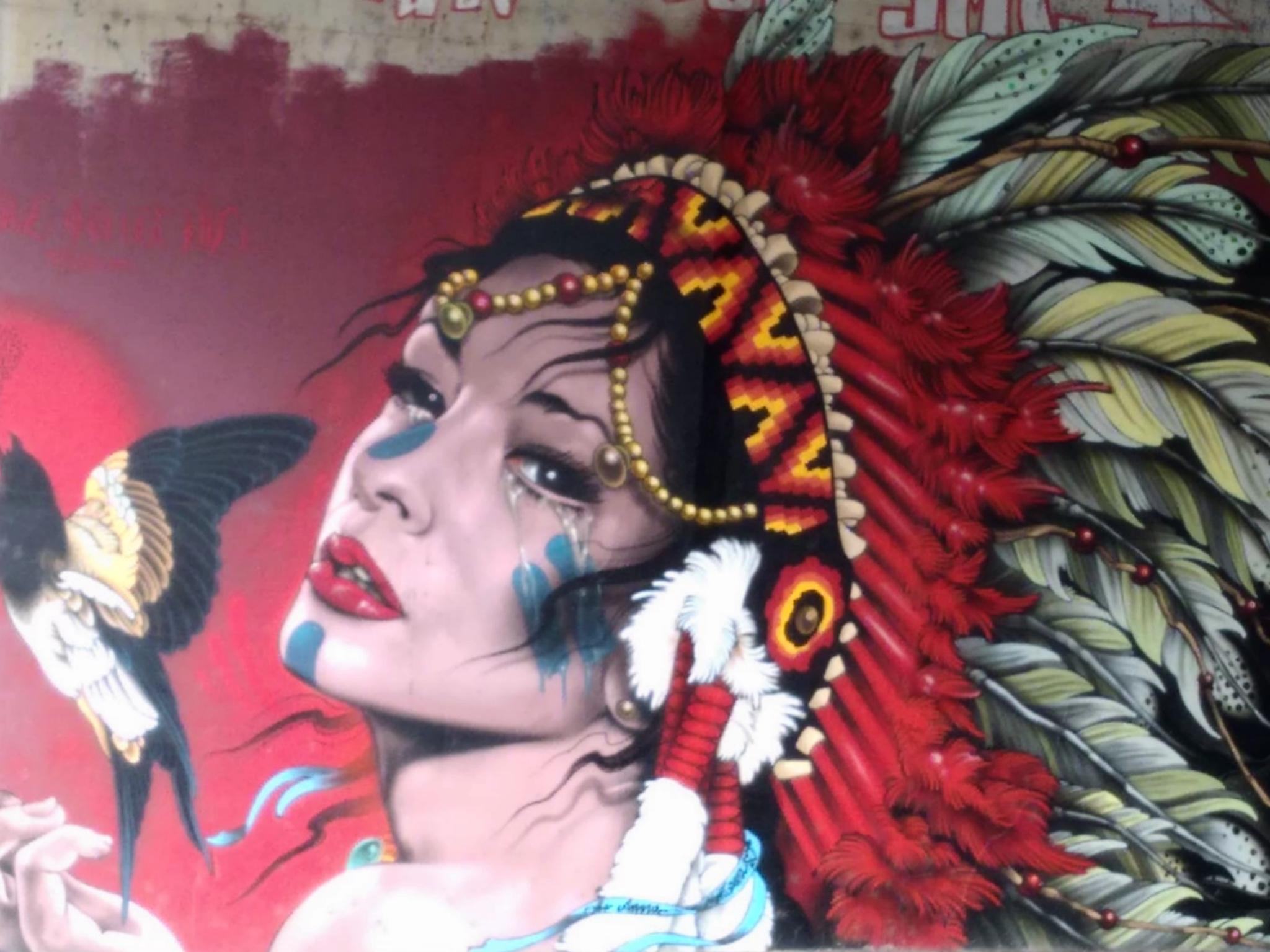 Dieses Kunstwerk findet man in der Unterführung am Südbahnhof. Foto: Sandro Weiß