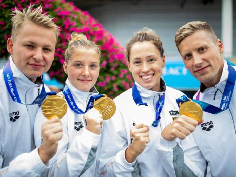 WM-Sieger mit ihren Goldmedaillien