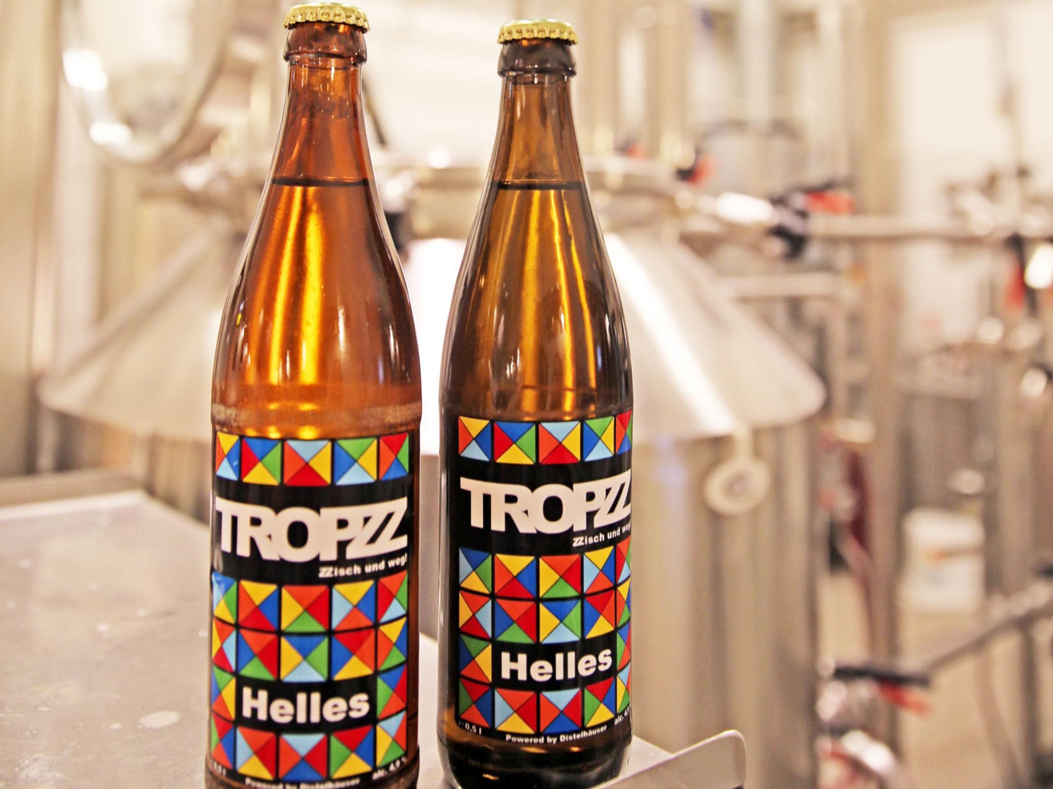 Abgefülltes Tropzz Bier. Foto: Malte Schroth