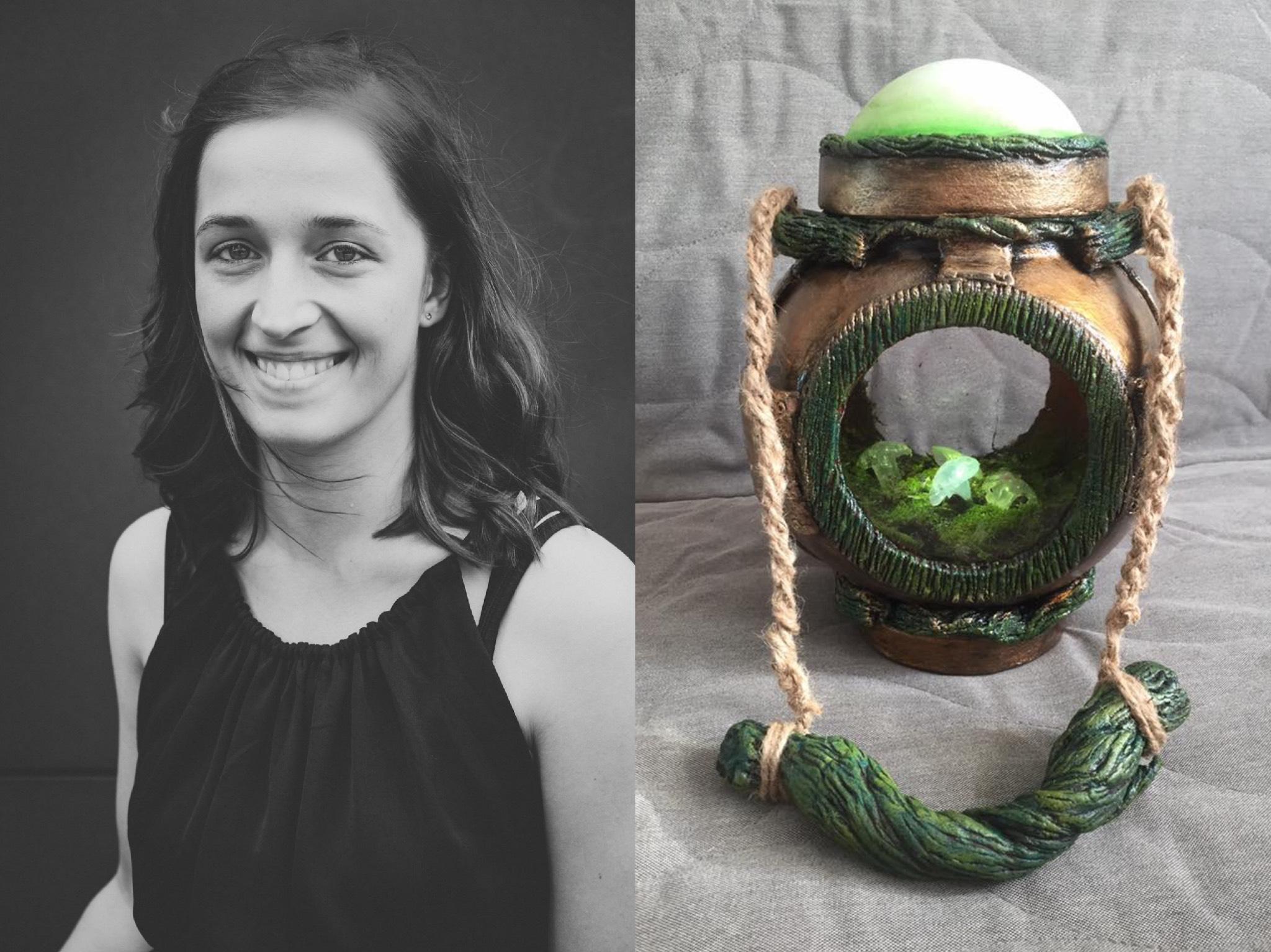 Am liebsten mag Patricia die leuchtenden Gegenstände aus der Fantasy-Szene. Foto: Naruvien Art&Design