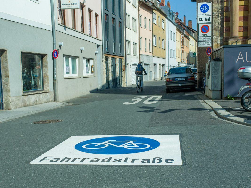 Die neue Fahrradstraße in der Büttnerstraße. Foto: Pascal Höfig