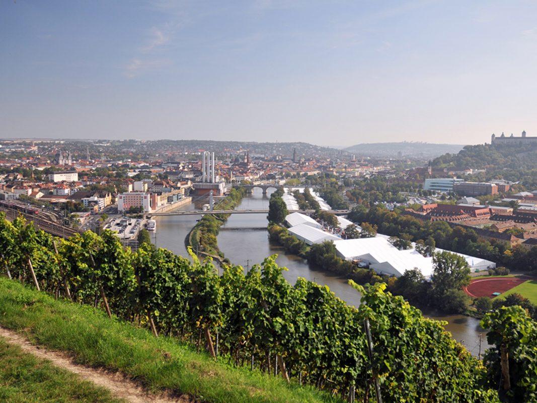 Ein Blick auf das Messegelände der Würzburger Mainfranken-Messe. Foto: Mainfranken-Messe
