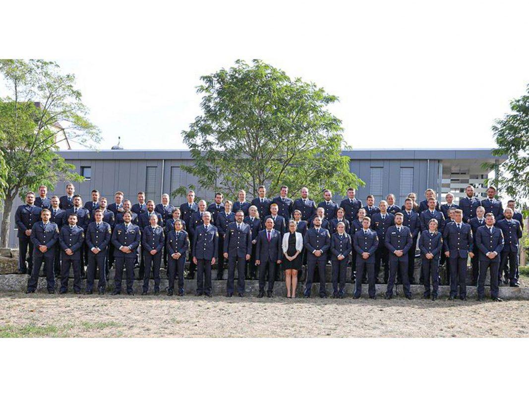 63 Neuzugänge treten ihren Dienst bei der unterfränkischen Polizei an. Foto: Polizei