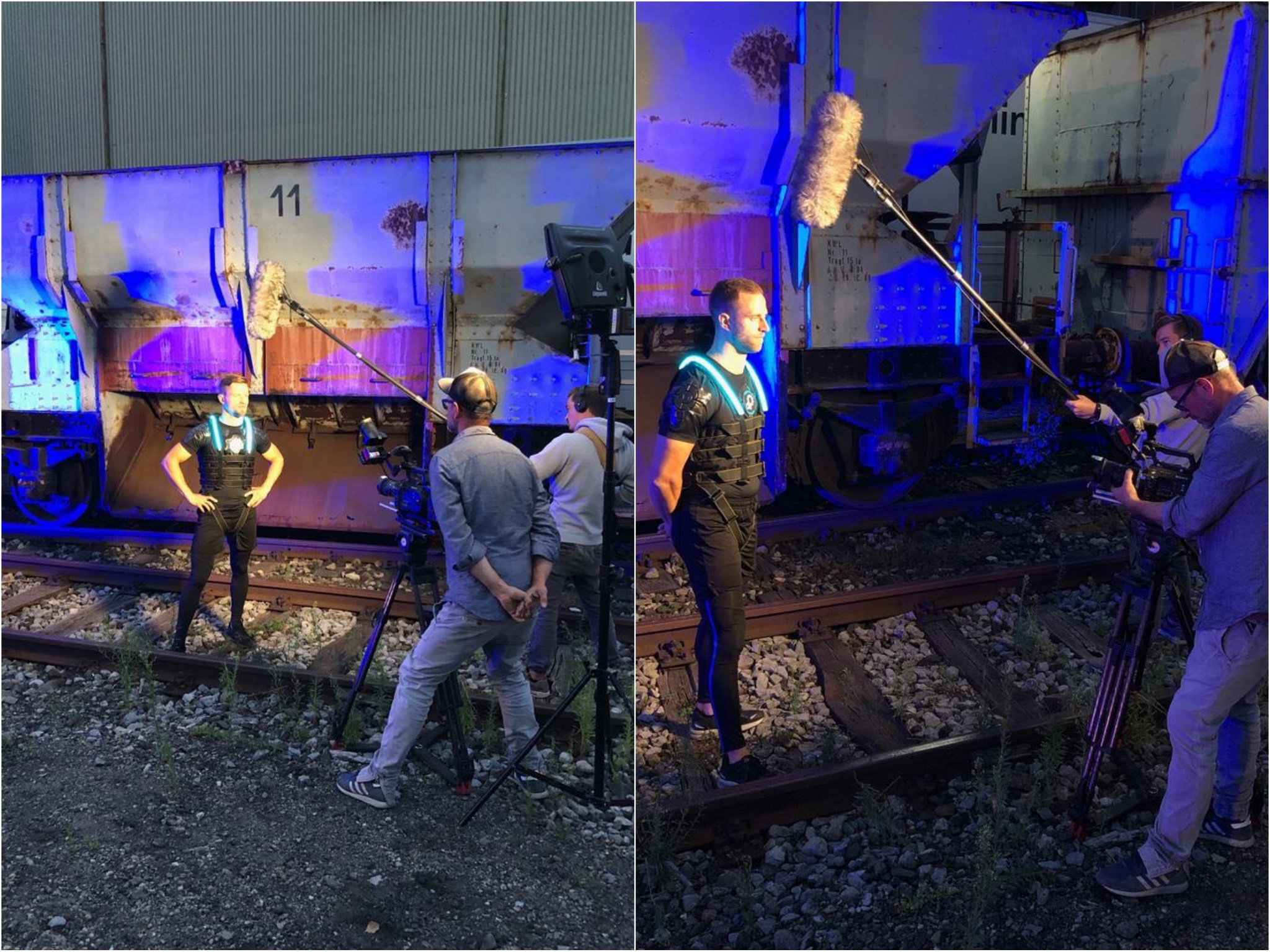 Lukas und Alex hinter den Kulissen der ProSieben Show. Fotos: Lukas Storath