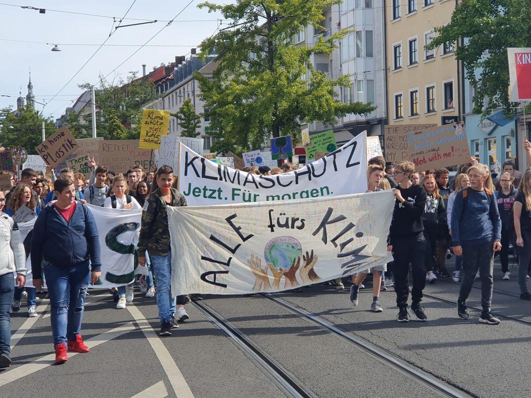 Bei der Großdemo von FfF im September gingen Tausende auf die Würzburger Straßen. Foto: Jessica Hänse