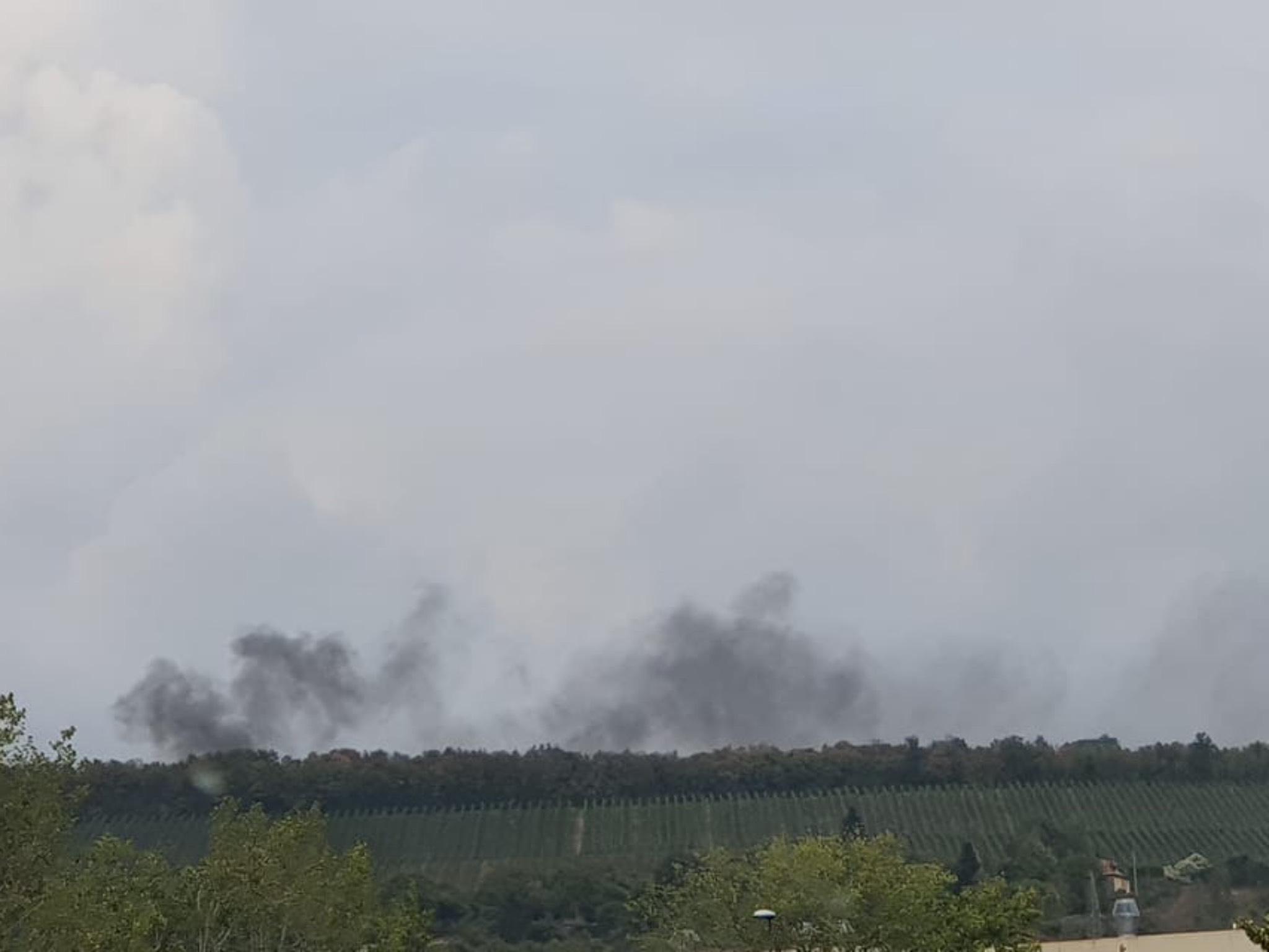 Rauchwolken am Schenkenturm. Foto: Sussane Schmidt