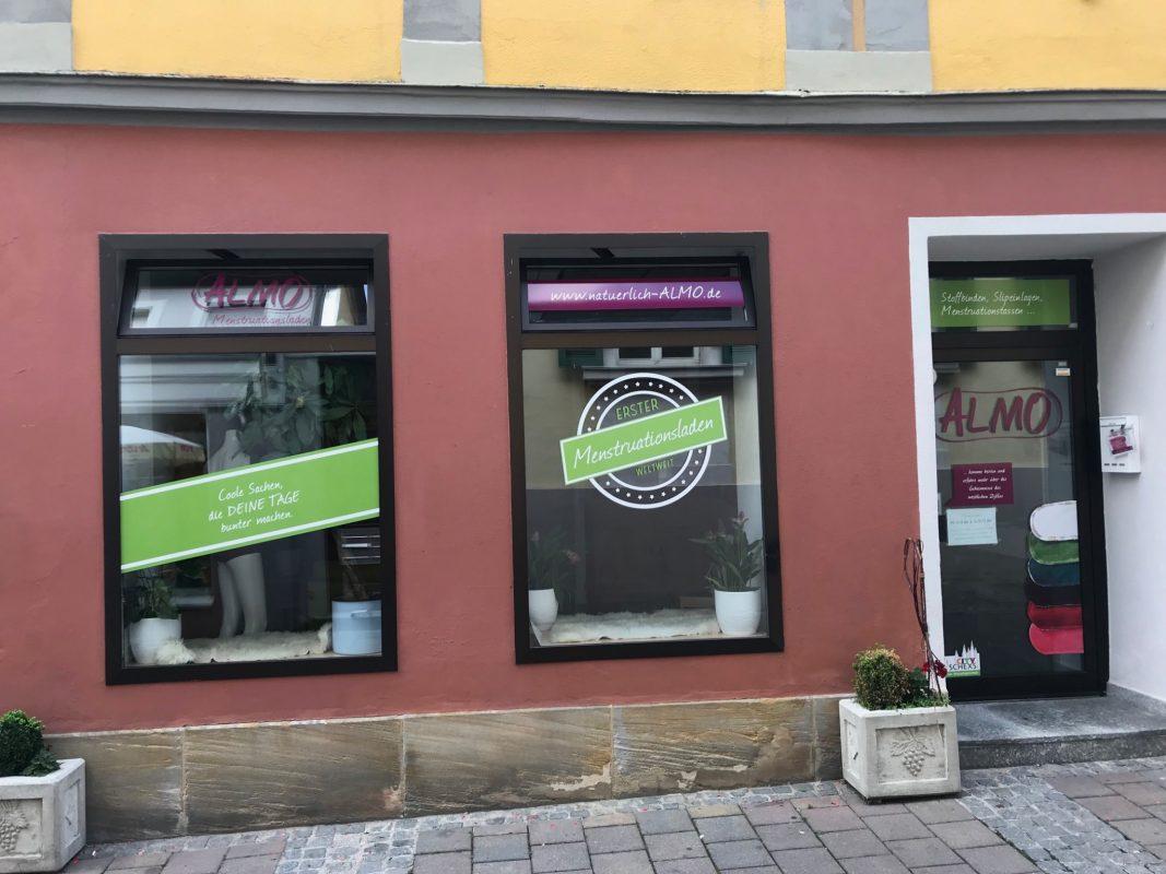 """Der Menstruationsladen """"ALMO"""" in Ansbach Foto: Nico Jahnel"""