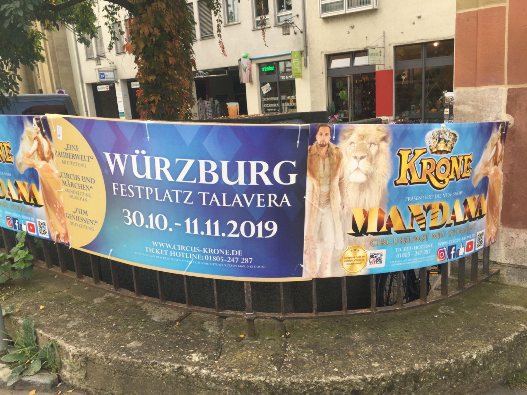 Circus Krone gastiert auf der Talavera in Würzburg. Foto: Katharina Kraus