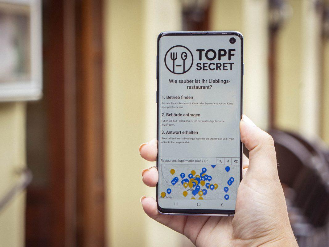 """Die Plattform """"TopfSecret"""". Foto: Dominik Ziegler"""