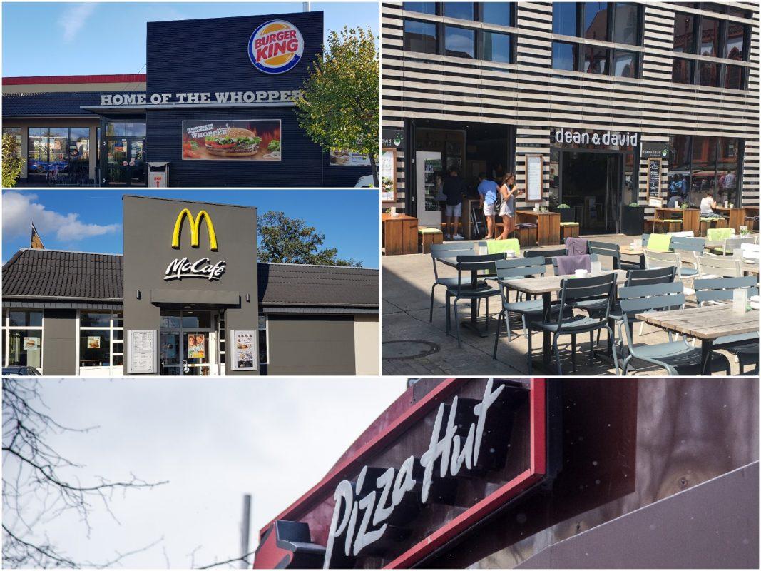 Schnellrestaurants im Vergleich. Fotos: Würzburg erleben