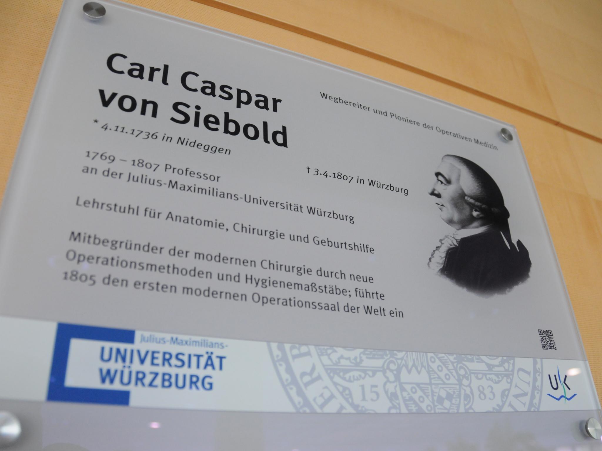 Gelehrtentafel Uni Wuerzburg Siebold