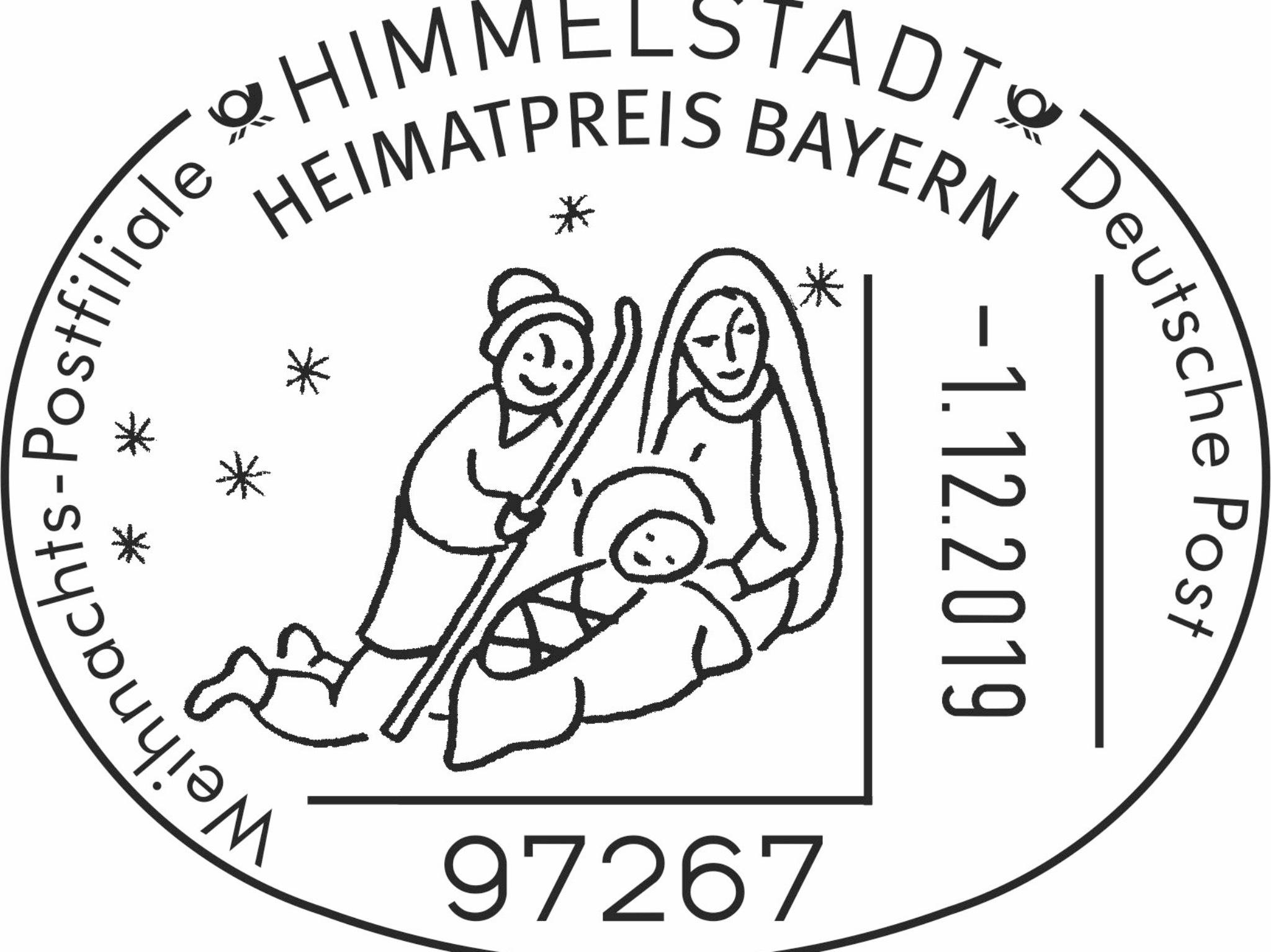 Stempel der Weihnachtspostfiliale Himmelstadt. Foto: Deutsche Post