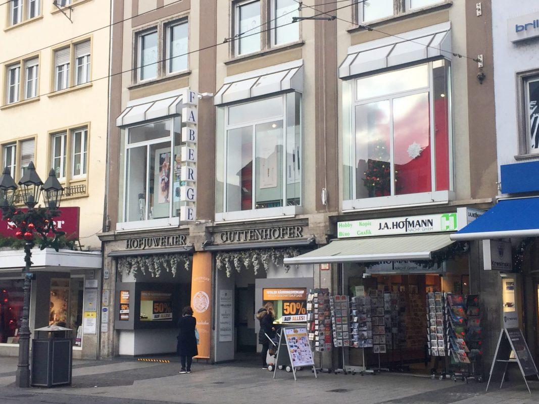 Hofjuwelier Guttenhöfer in der Domstraße. Foto: Katharina Kraus