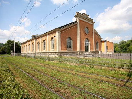 Das Wasserkraftwerk in der Mergentheimer Straße. Foto: WVV
