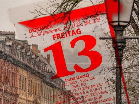 Freitag, der 13. in Würzburg. Foto: Dominik Ziegler