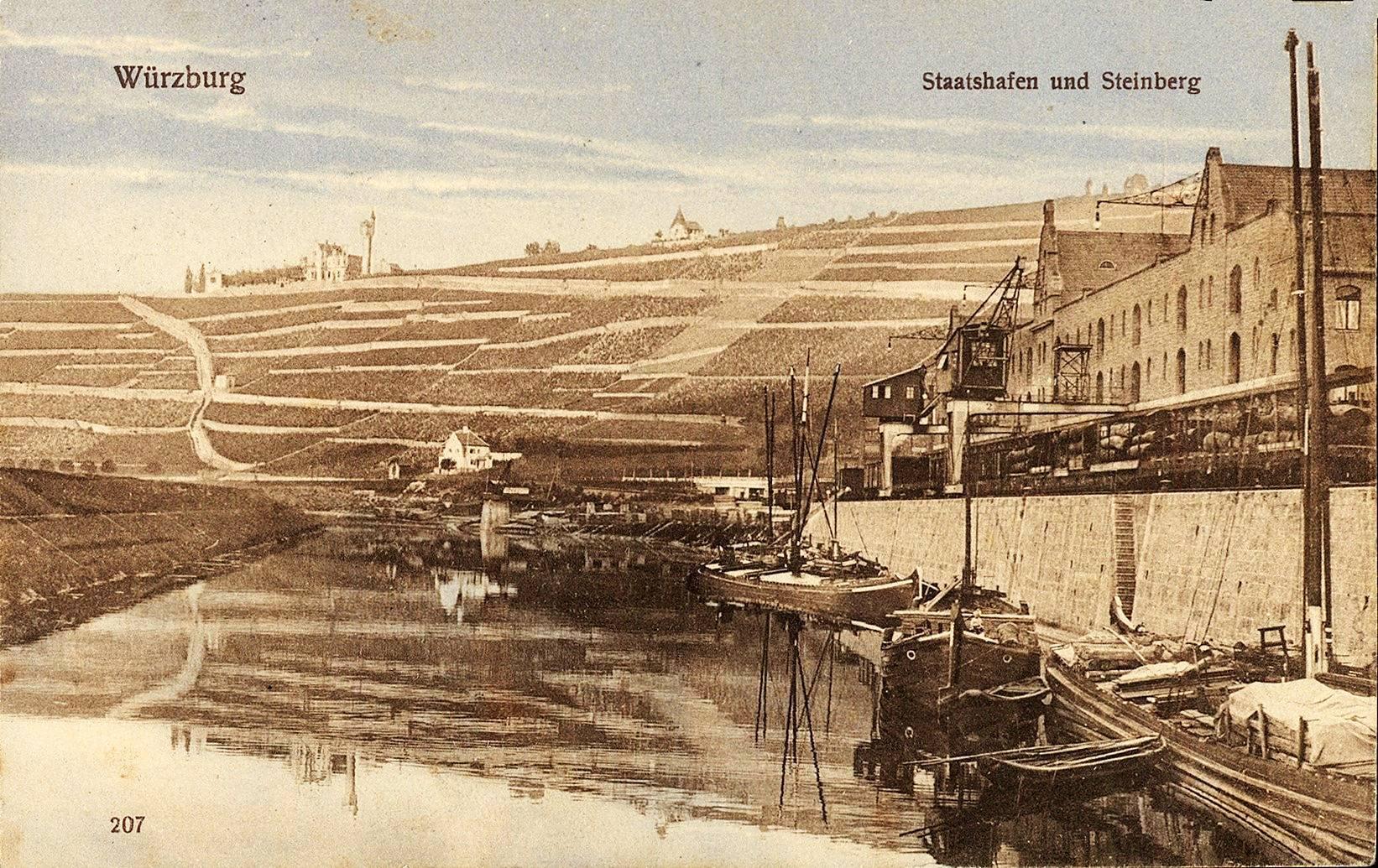 Der Alte Hafen in Würzburg in 1900. Foto: Archiv Willi Dürrnagel