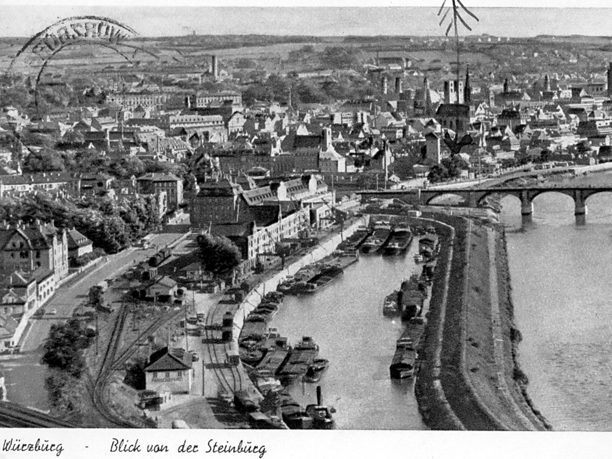 Der Alte Hafen in 1952. Foto: Archiv Willi Dürrnagel