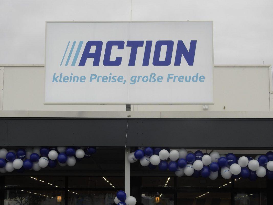 Logo Action-Markt. Foto: Dirk Flieger