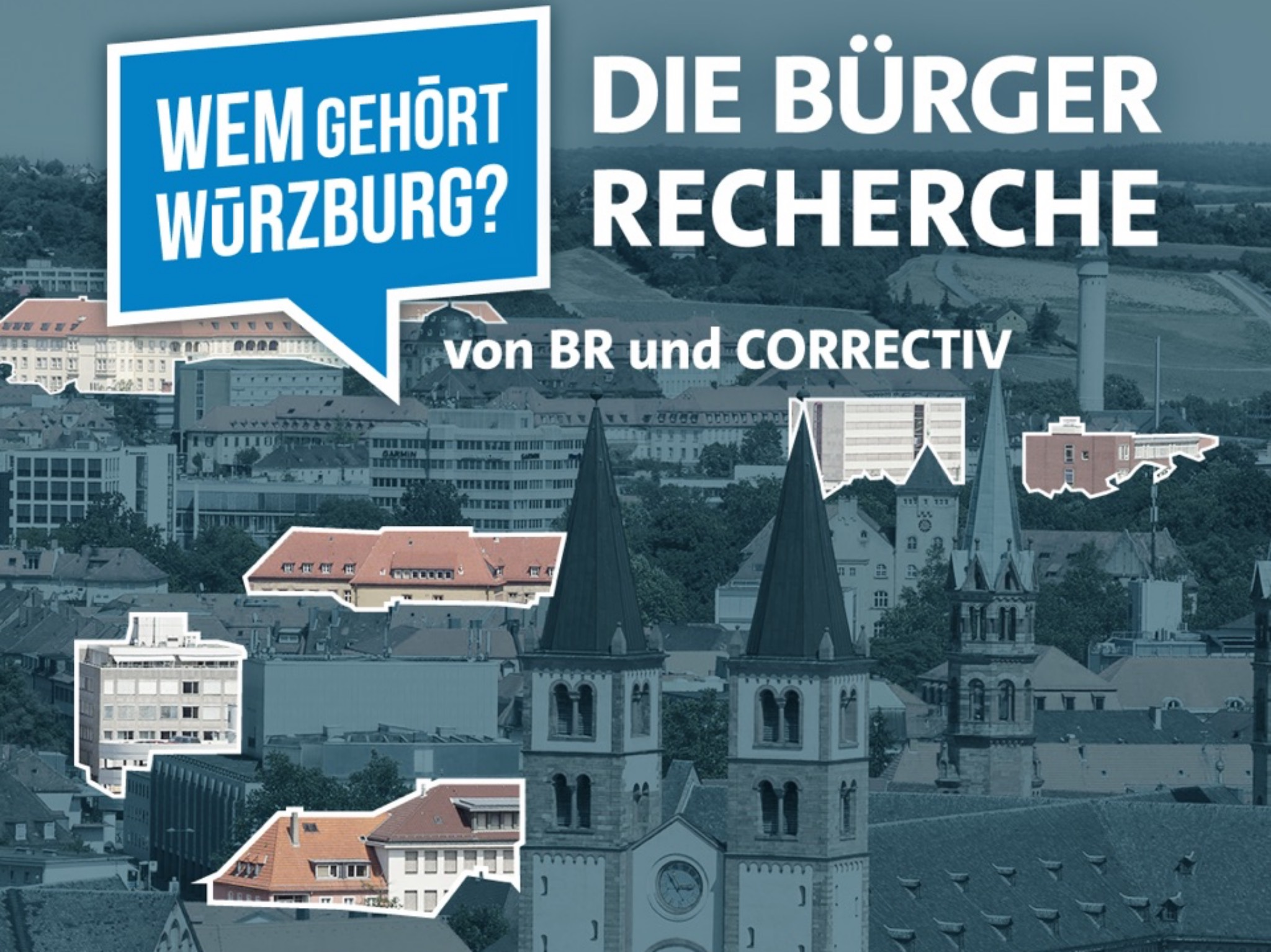 """""""Wem gehört Würzburg?"""" - Eine Bürgerrecherche. Grafik: BR/picture alliance"""