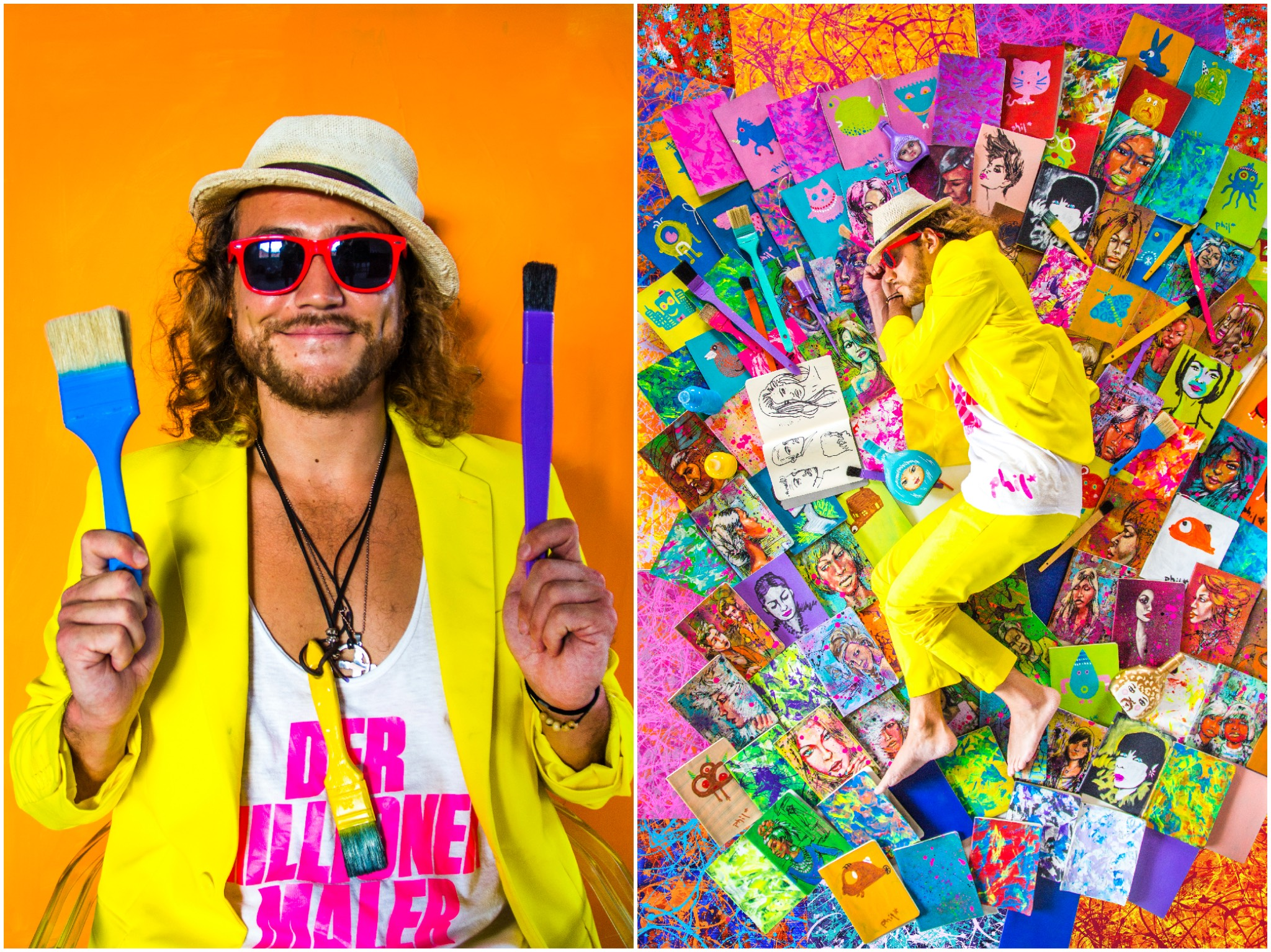 Farben sind sein Leben! Fotos: Phil Splash