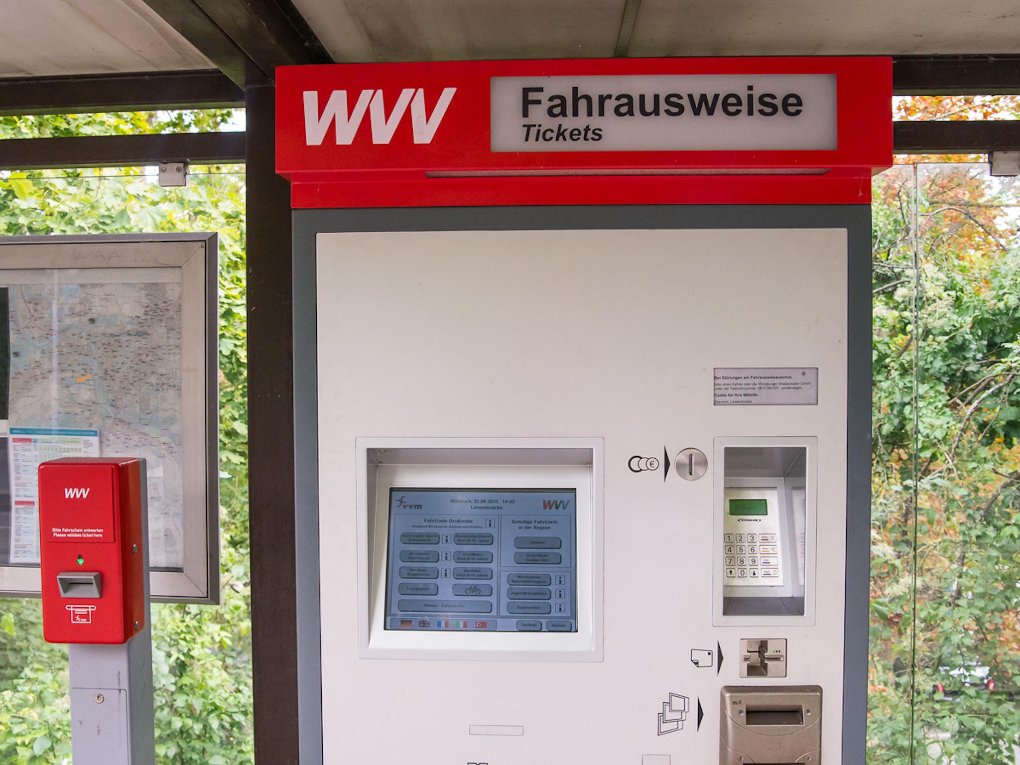 Fahrscheinautomat. Symbolfoto: Pascal Höfig